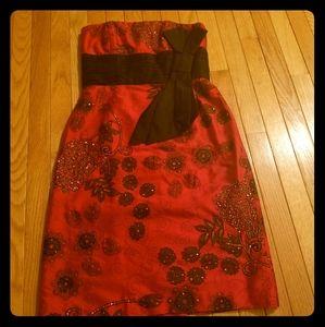 Shani Red Black Cocktail Dress